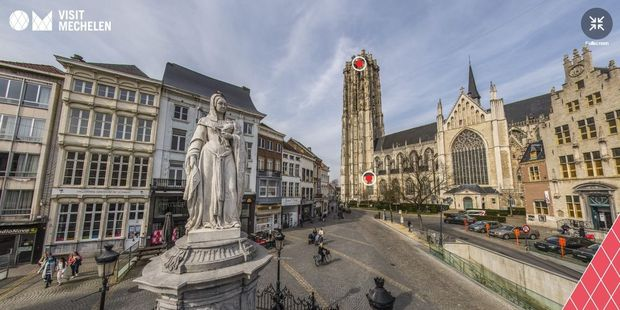 Mechelen nu ook in Virtual Reality te bezoeken