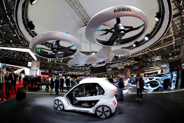 "De ""pop.up "" tijdens de Geneva International Motor Show., REUTERS"