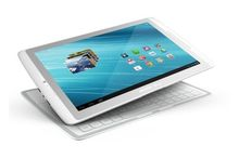Android tablet met slim toetsenbordcover