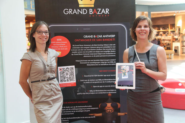 Augmented reality game in Antwerps winkelcentrum