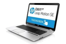 HP rust laptop uit met Leap Motion Controller