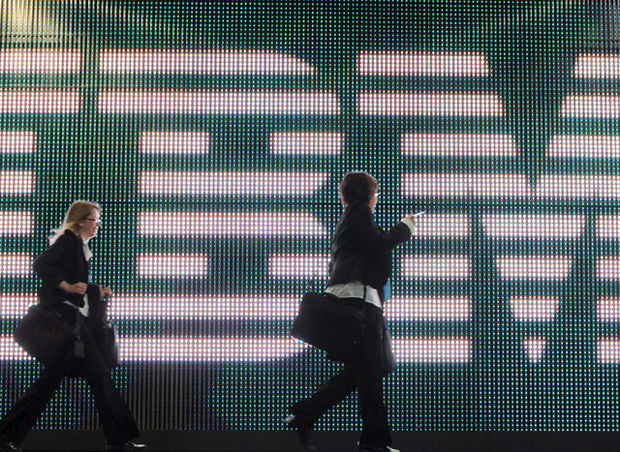IBM test oplichtend zebrapad in Brussel