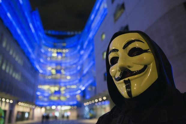 'Website Senaat gehackt door Anonymous'