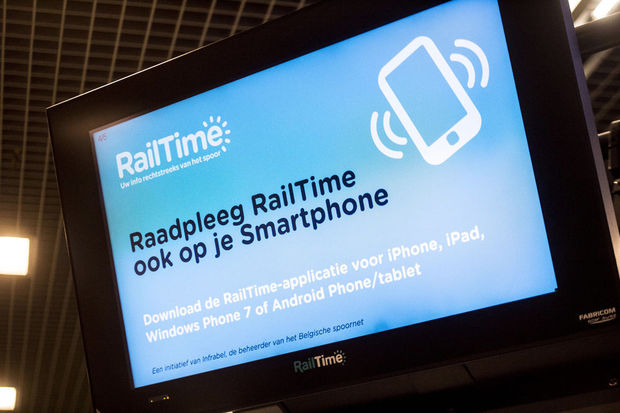 NMBS voert website en app Railtime af