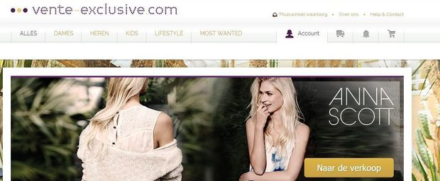 Vente-Exclusive.com in handen van Vente-Privee