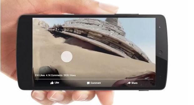 Facebook introduceert 360-graden video