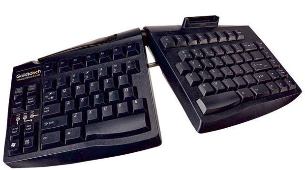 Goldtouch adjustable keyboard